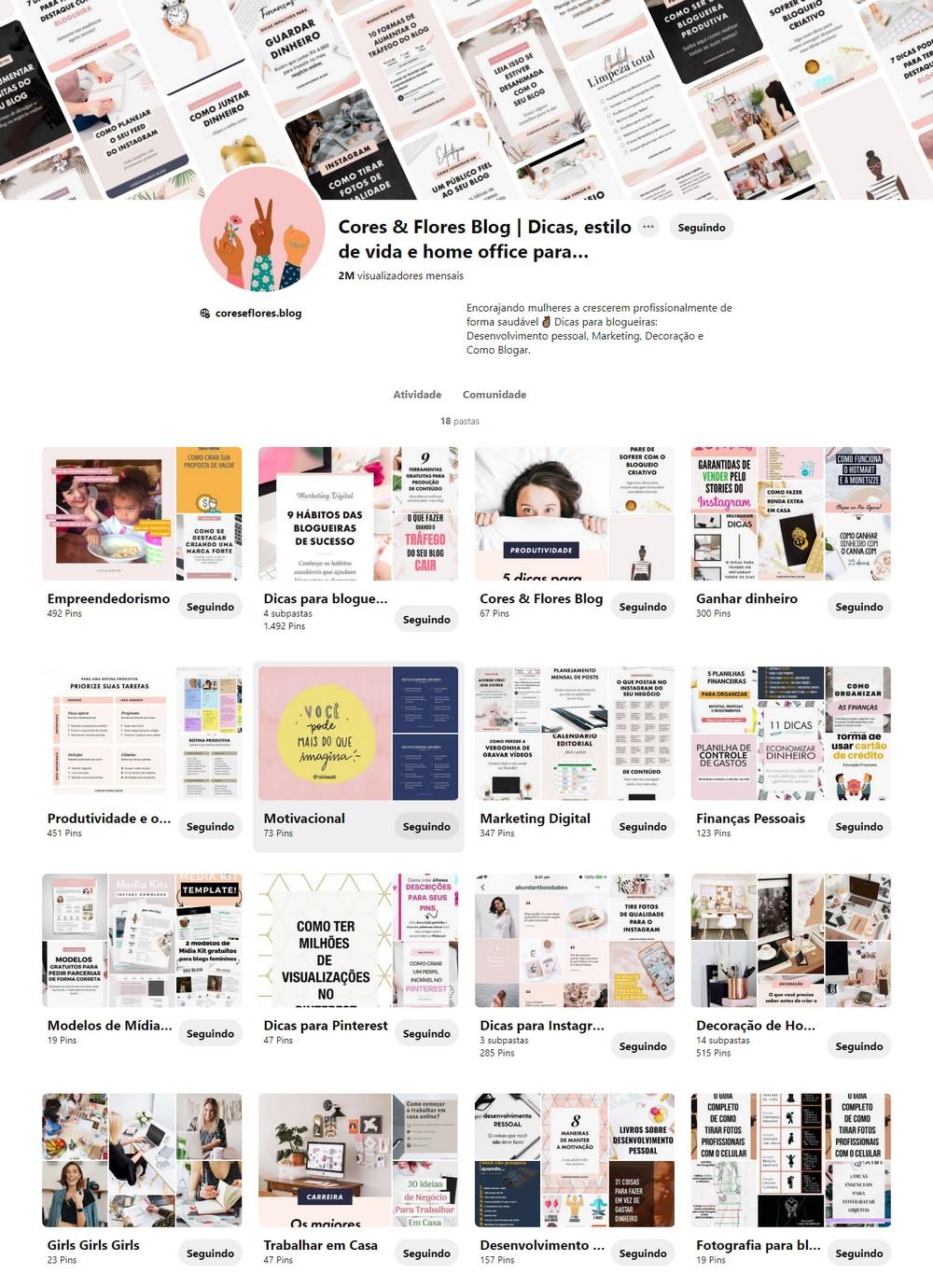 Passo a passo para criar um paienl de inspirações no Pinterest para sua marca